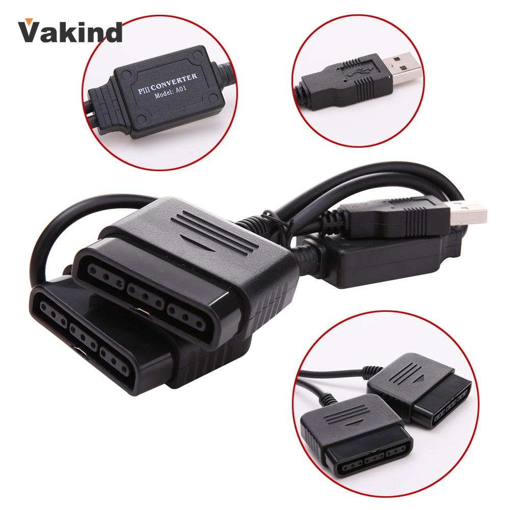 2 in 1 Dual USB Ports PS1 PS2 to PC USB 2.0 Controller Adapter Converter Adapter for Sony PS2 Wired Controller New