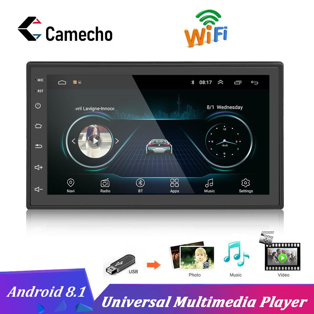 Camecho 2Din Android universel Autoradio GPS Navigation Bluetooth Auto Audio Wifi Autoradio écran tactile voiture Audio stéréo lecteur