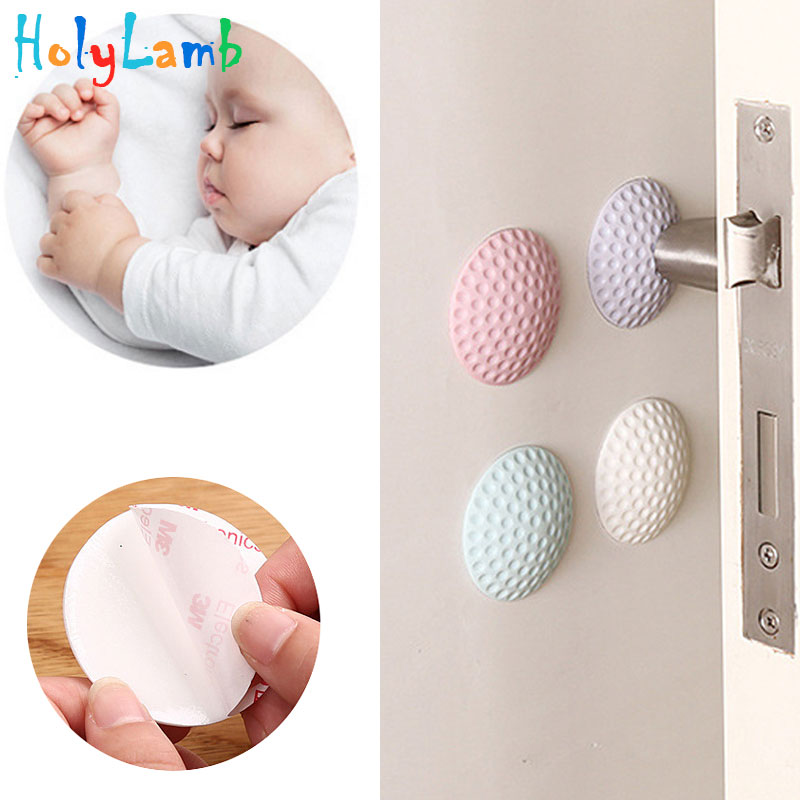 4Pcs/Lot Protection Baby Safety Shock Absorbers Security Card Door Stopper Baby Newborn Care Child Lock Protection From Children