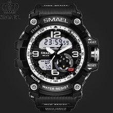 c65816069f5e SMAEL impermeable deporte de los hombres reloj de la marca de los hombres  de doble pantalla LED Digital relojes moda Casual relo.