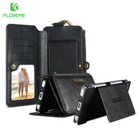 FLOVEME Retro Functional Case For Xiaomi Mi5 Huawei P10 P10 Plus Leather Wallet Case For Samsung