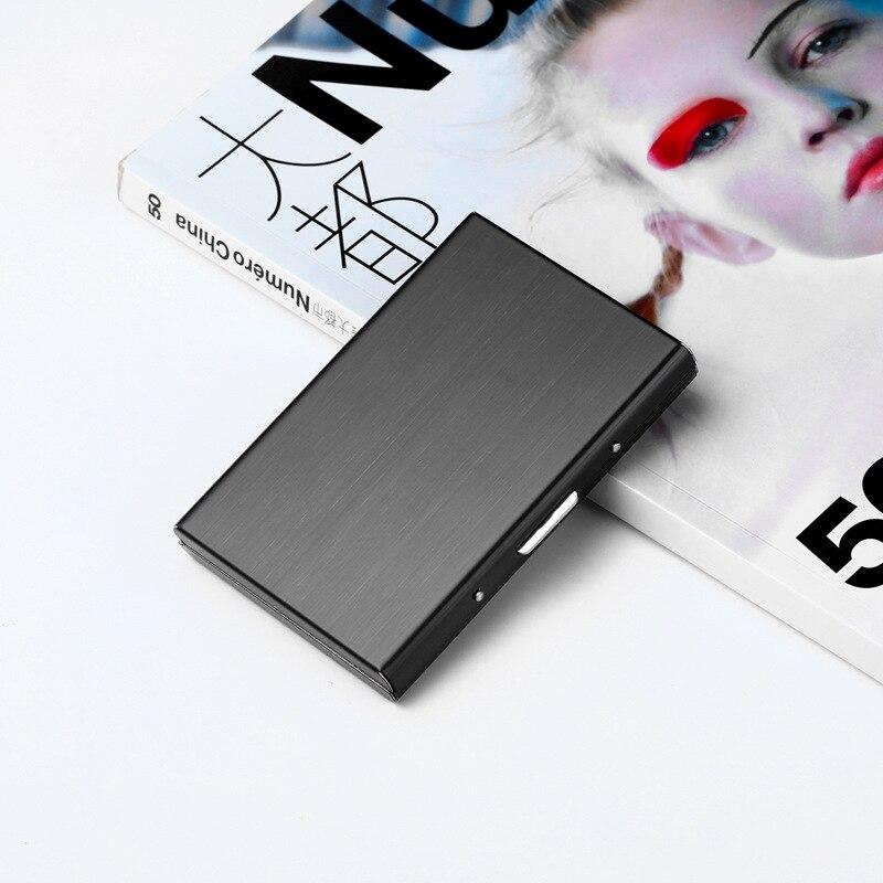 Stainless Steel Card Holder@Waterproof Business RFID Metal Travel Wallet