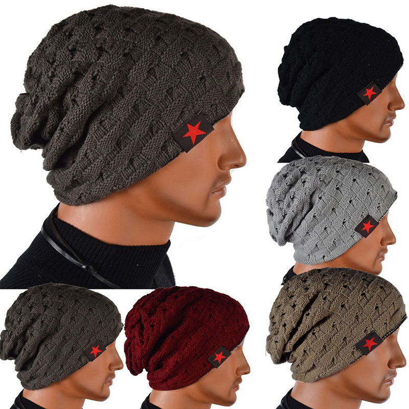 Hot winter spring warm reversible crochet beanie hat for women men knit chunky baggy skullies cap bonnet gorros mujer invierno 2016 fashin reversible skullies