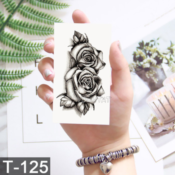 New Waterproof Temporary Tattoo sticker old school rose pattern tattoo Water Transfer tattoo flash tattoo 2