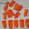Free shipping In stock Safety Latex Finger Protector Shields For Hair Extension Styling Tools orange hair finger protector