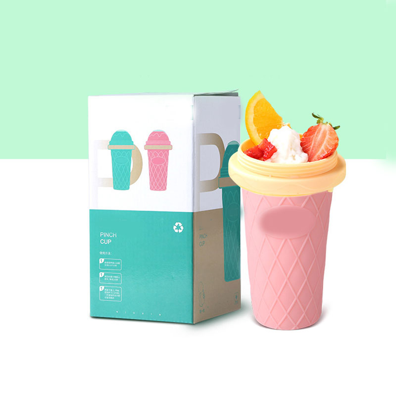 Hot Double Layer Ice Cream Maker DIY Homemade Fast Cooling Ice Cream Smoothie Cup FQ ing in Squeeze Bottles from Home Garden