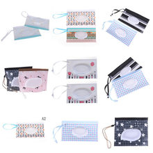 Eco-Friendly Baby Wipes Box Wet Wipe Box Cleaning Wipes Carrying Bag Clamshell Snap Strap Wipe Container Case(China)