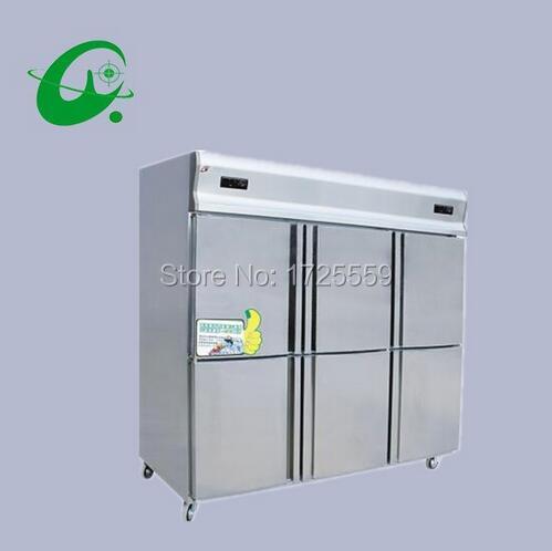 Six double-temperature freezers chinese kitchen refrigerator freezer