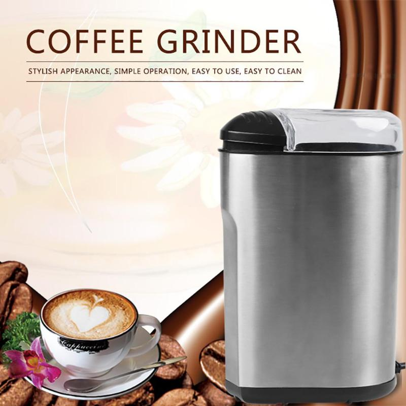 Electric Coffee Grinder Spice Maker Stainless Steel Blades Coffee Beans Mill Herbs Nuts Cafe Home Kitchen Tool EU PlugElectric Coffee Grinder Spice Maker Stainless Steel Blades Coffee Beans Mill Herbs Nuts Cafe Home Kitchen Tool EU Plug