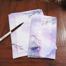 8 шт. 11x22 см милый китайский стиль винтажные бумажные конверты и набор букв каллиграфия авторучка бумага для письма