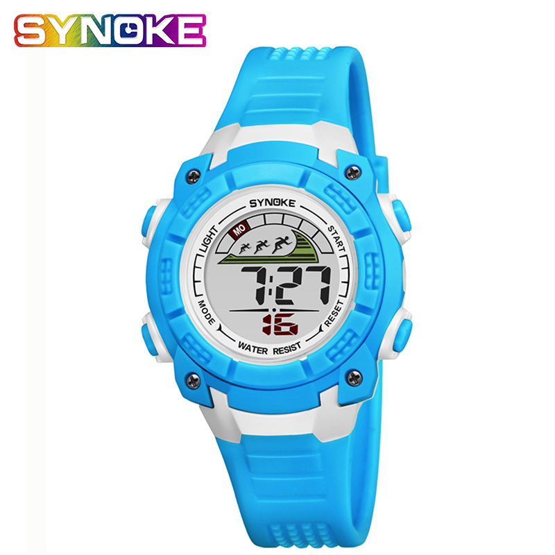 SYNOKE Children's Watches Waterproof Back Light Multi-function Sports Kid's Watches Students Boys Age Girl Watch
