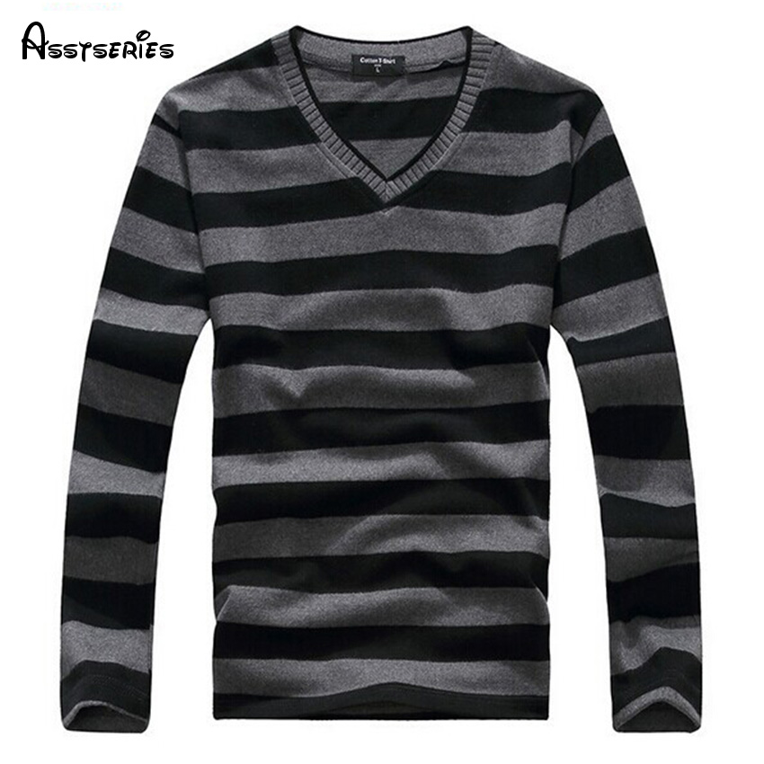 2018 Man Fashion Designer Brand Clothes Mens Jumper V Neck