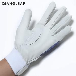 Image 2 - QIANGLEAF Work gloves gardening glove new design microfiber security gloves hot sale sport gloves 6470