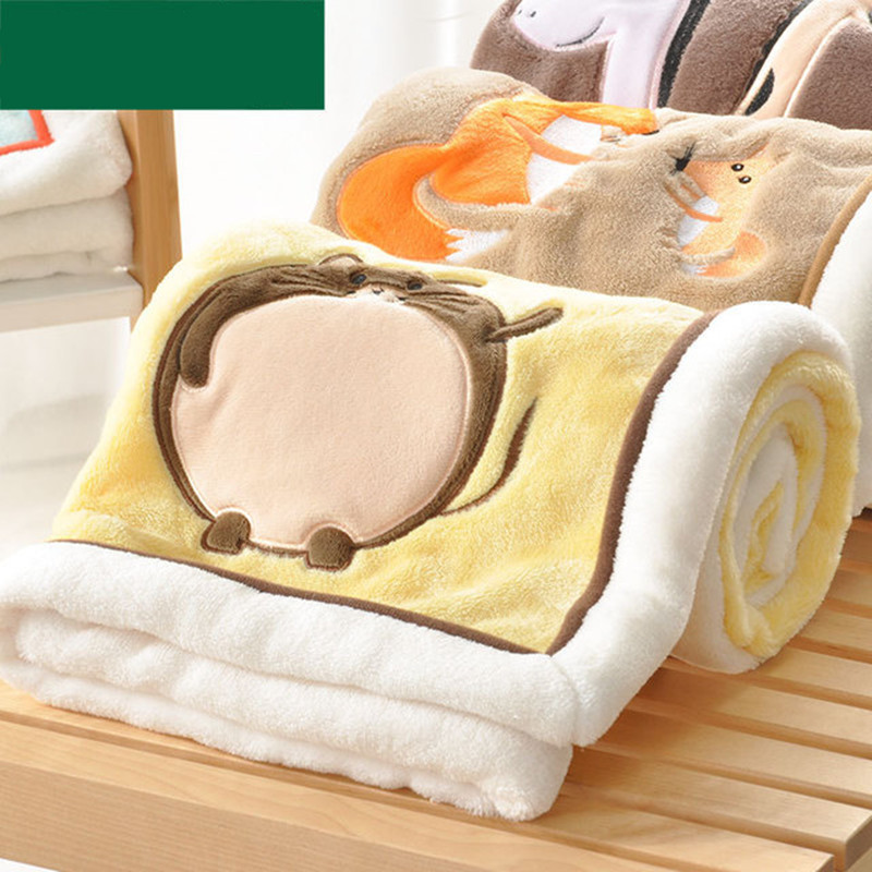 Baby Blankets Newborn Swaddle Wrap Blanket Super Soft Infant Bebes Basket Stroller Bedding Covers Children Cartoon Quilts 100*75