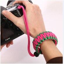 Thicken Camera bracelet Outdoor survival bracelet paracord 550 4mm digital camera shatter-resistant anti-lost wrist strap