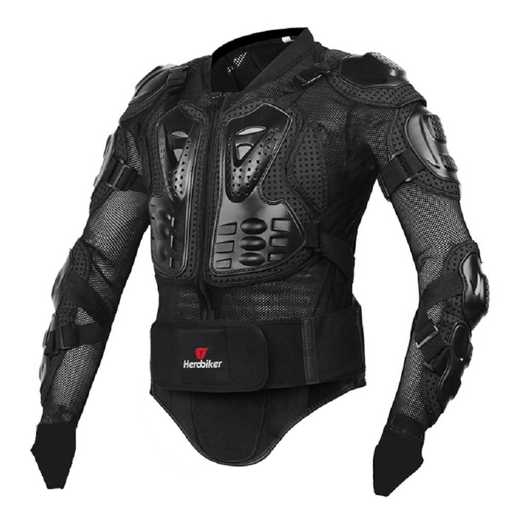 HEROBIKER motosiklet zırh koruyucu donanım yaz motokros dişli zırh vücut göğüs Moto Rider yarış ceketi motosiklet koruma