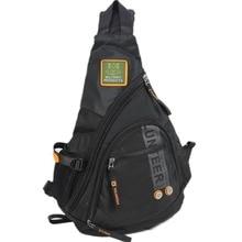 حقيبة ظهر رجالي من النايلون المقاوم للماء حقيبة كتف واحدة عبر الجسم حقيبة ظهر بحمالة عسكرية للسفر حقيبة ظهر عالية الجودة