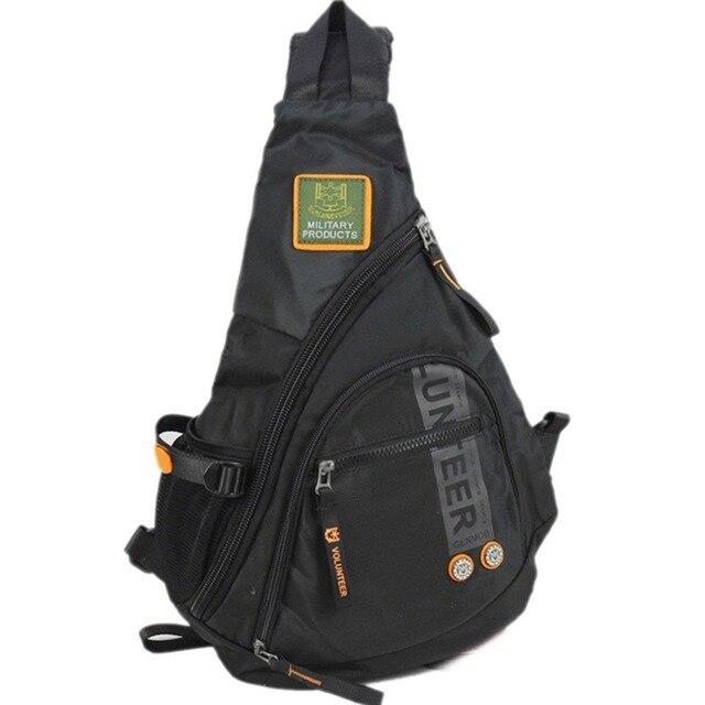 À prova dwaterproof água náilon masculino ombro único corpo cruz saco de viagem militar sling mochila peito volta pacote sacos do mensageiro alta qualidade