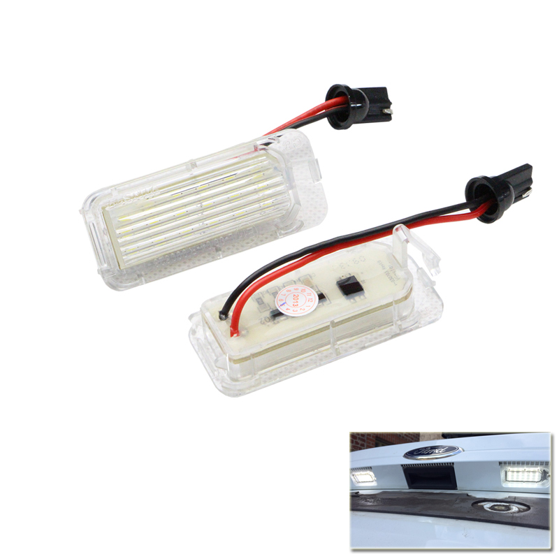 LED License Plate Light Lamp For Sale Car Rear Registration Number Plate Lamp Led Bulb For Ford Focus 5D Mondeo Fiesta Plug&Play 1 pair car led license number plate light lamp 6w 12v 24 led for ford focus 2 c max car styling license palte lights lamps