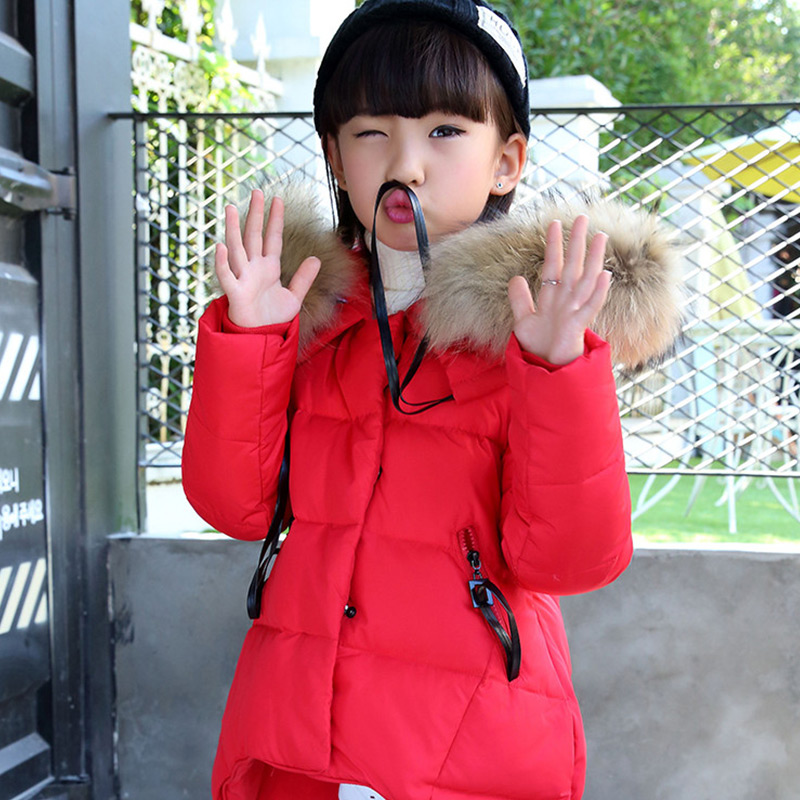Winter Children Girls Warm Hooded Down & Parkas Children Long Outerwear Jacket & Coat for girls 2016 new hot winter thicken warm woman down jacket coat parkas outerwear hooded luxury long plus size slim brands