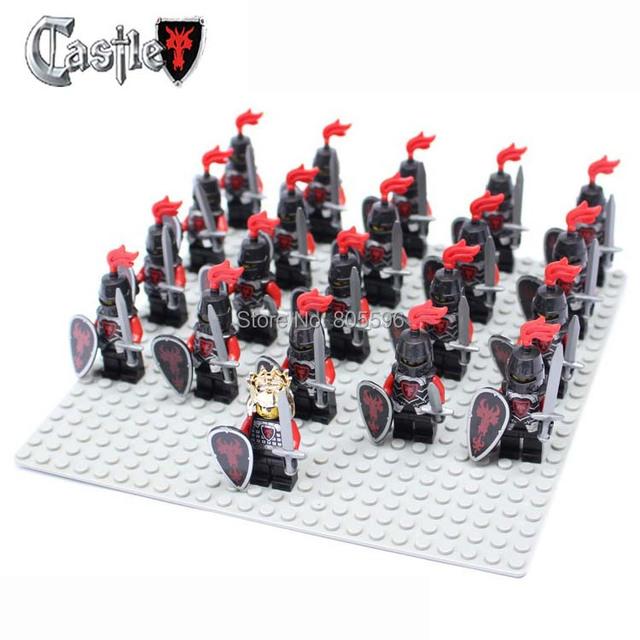 21pcs Castle Knights Knight compatible star wars Building Block Brick accessory Sluban Decool figures