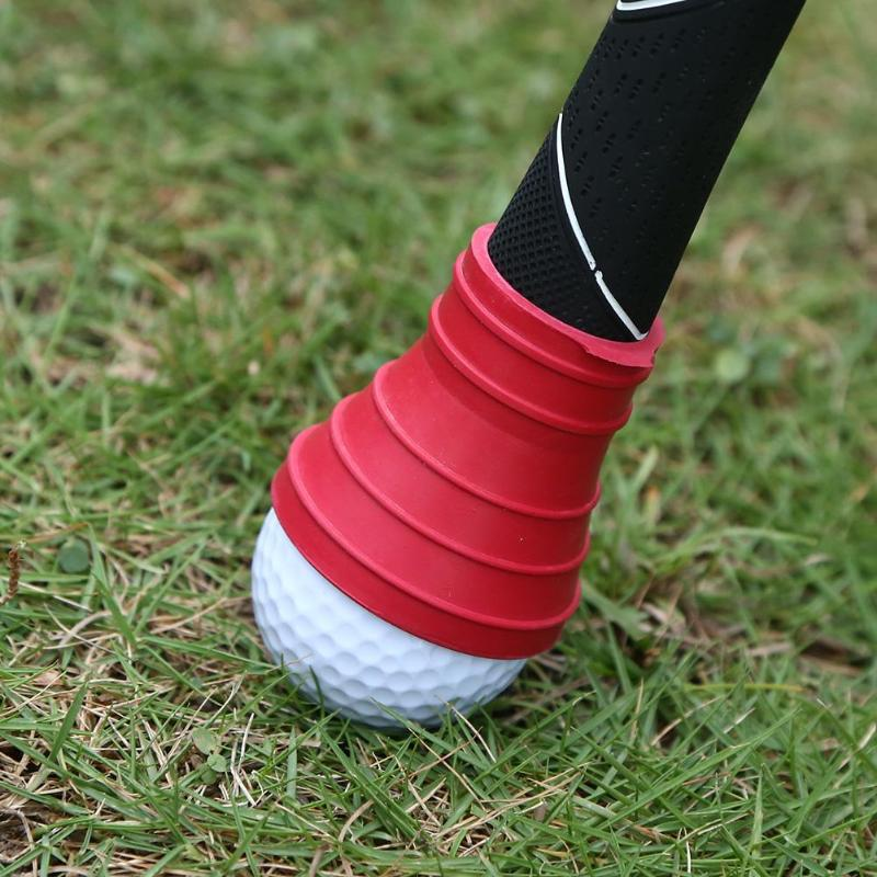 Golf Ball Rubber Pickup Pick-up Retriever Grabber Suction Cup For Putter Grip Golf Ball Golf Training Aids