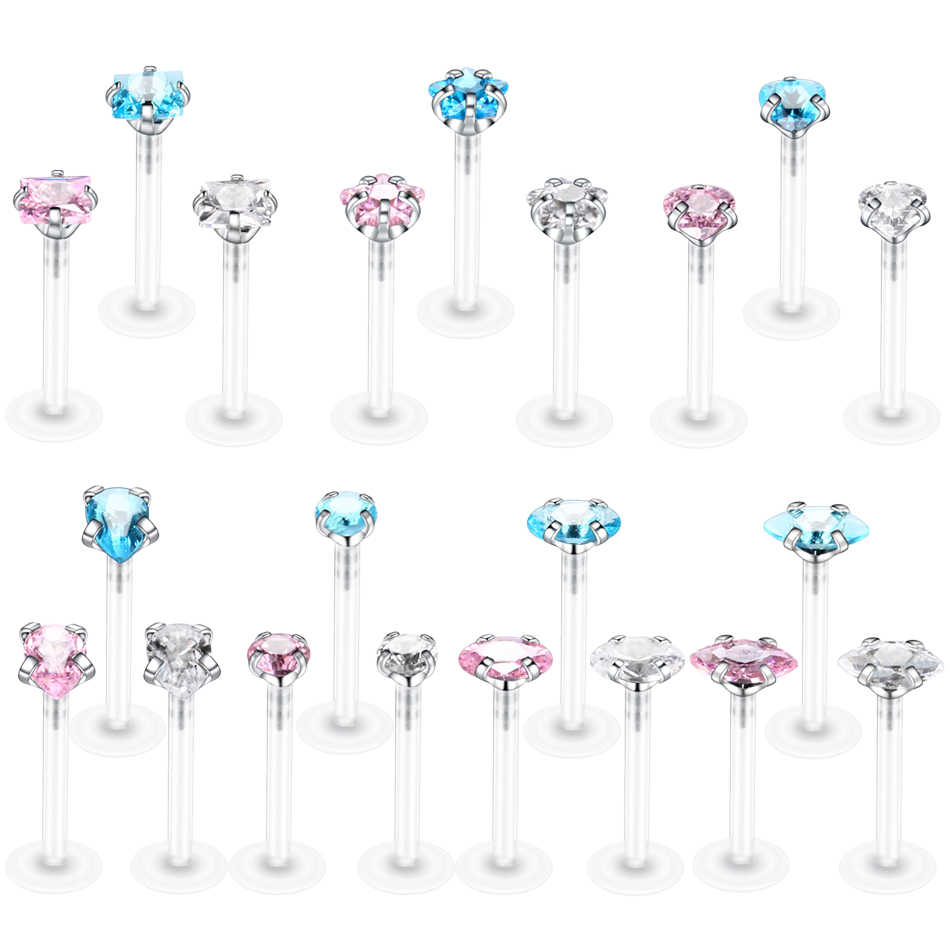 1PC Bioplast Labret Piercings Tragus Piercings Horse Eye Ellips Lip Rings Piercing Ear Cartilage Sexy Body Jewelry Piercings
