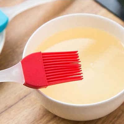1X limpiador de silicona cepillo de cocina herramienta de lavado de pan herramienta de cepillo de pasta de aceite pincel de batidor de Color enviado por cepillo de hornear al azar