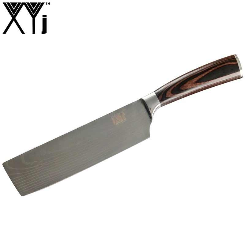 XYj Japanese Style Chopping Knife Stainless Steel Kitchen Cleaver Knife Chef's High Carbon Cooking Knife Professional Qualilty