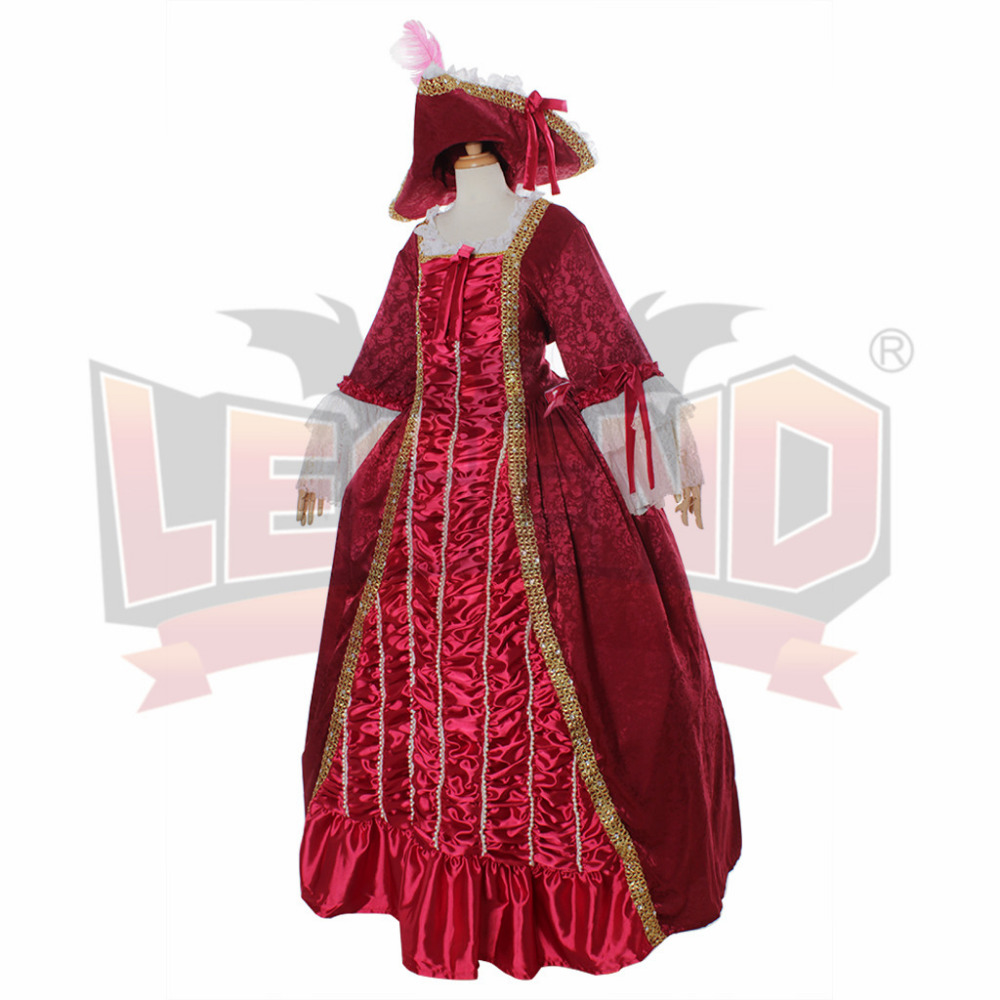 Marie Antoinette Gothic Victorian Ball Gowns Vintage Luxury Red ...
