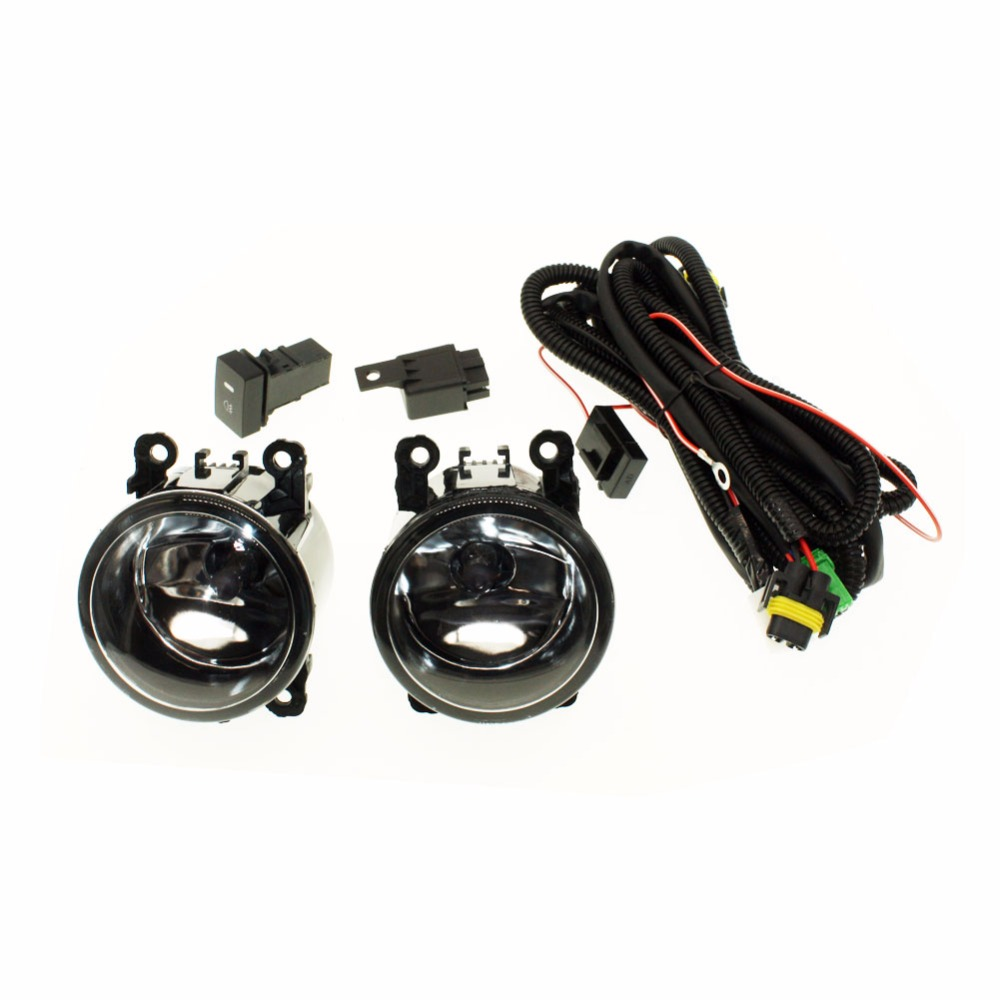 H11 Wiring Harness Sockets Wire Connector Switch 2 Fog Lights Drl Vehicle Front Bumper Halogen Car Lamp For Mitsubishi L200 Kb T Ka In Light Assembly From