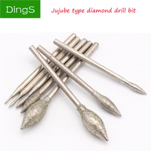 Grinding head diamond Emery plated Polishing Needle Bits Burrs Metal Stone Jade Engraving Carving lettering Tools For Dremel