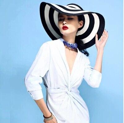 547fe4f891d women hat new fashion summer autumn white and black sun hat women caps  vintage causal lady vintage hat