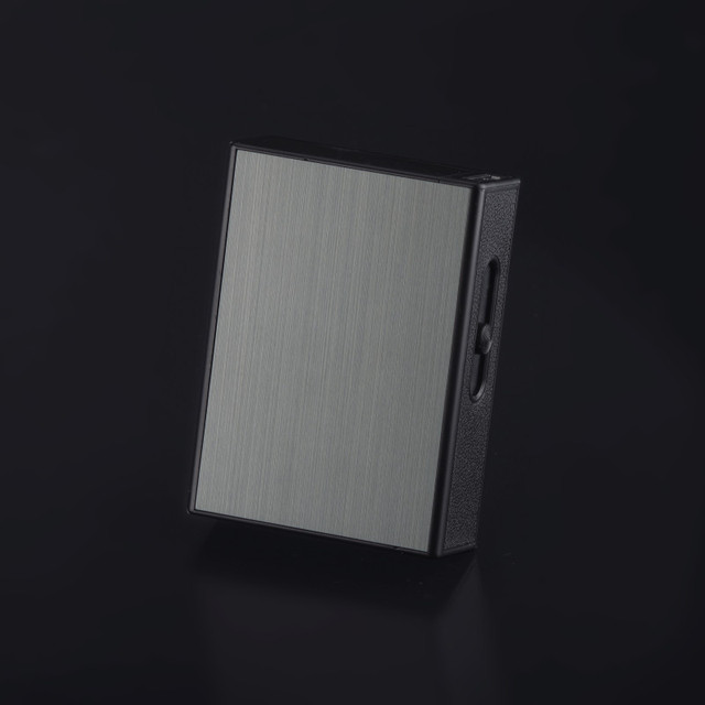 New Ciagrette Holder Box with  USB Electronic Lighters Flameless Windproof Tobacco Cigarette Case Lighter