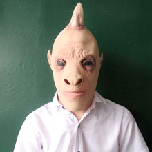 Hot Sale Latex Realistic UFO Alien Head Mask For Halloween Masquerade Prop Costume Party Cosplay Mask Film Performing Props