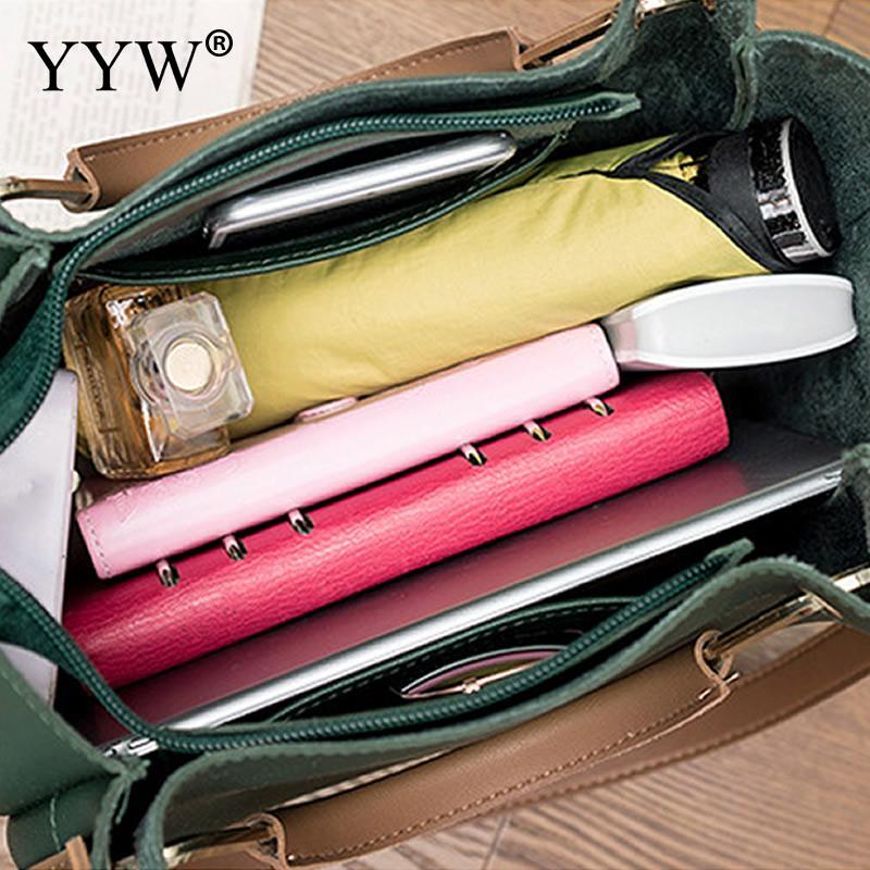 Solid Soft PU Leather Female Shoulder Bag Women'S Bucket Handbags Light Grey Tote Bags For Women 2018 Designer Top-handle Bag 6