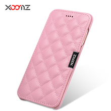 """For iphone 7 4.7"""" Lady wife Girl Original icarer XOOMZ Brand Real Genuine Leather cover Natural Cow skin Flip Case for iphone7"""