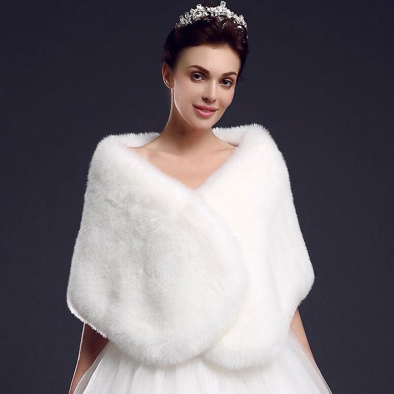 Nouveauté lady blinger rouge blanc faux renard fourrure étole mariée cape de mariage manteau chaud fourrure châle haute qualité irréel fourrure wrap