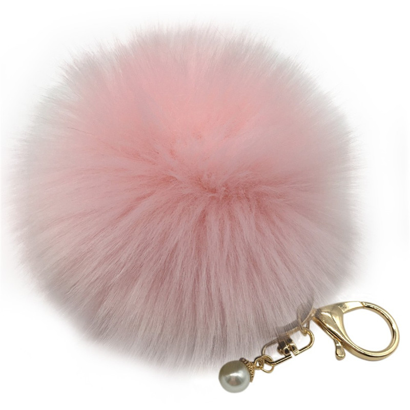 Newly Design Women Bag Accessories cute Rabbit Fur Ball Ball pendant fashion bags gift wholesale 12color