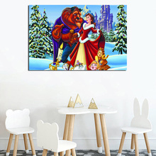 Beauty Beast Winter Wallpaper HD Wall Art Canvas Posters Prints Painting Wall Pictures For Bedroom Modern Home Decor Accessories beauty beast movie wallpaper wall art canvas posters prints oil painting wall pictures for bedroom modern home decor accessories