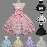 Palace Type Lolita Dresses Chiffon Princess Wedding Dress Gothic Dress Maid Dress Daily Outfits For Women