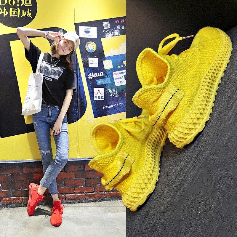 2019 Women Sneakers Shoes Woman Platform Shoes Zapatos De Mujer Feminino Teacher Sneakers Trainers Women Baskets Femme(China)