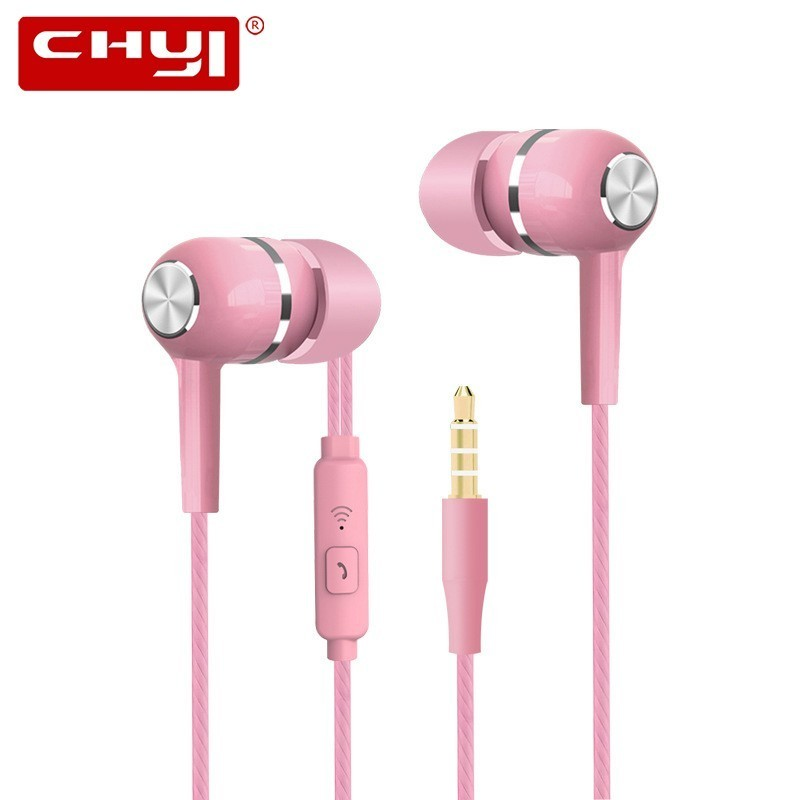 Cheap In Ear Sport Earphone With Mic Wired Handsfree Gaming Headset 3.5mm Deep Bass Universal Candy Gifts Earbuds For Smartphone image