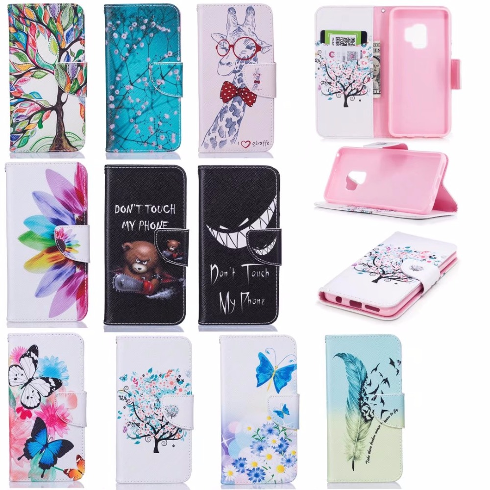 Untuk huawei honor 6x case magnetic balik dompet kulit painted case - Aksesori dan suku cadang ponsel - Foto 6