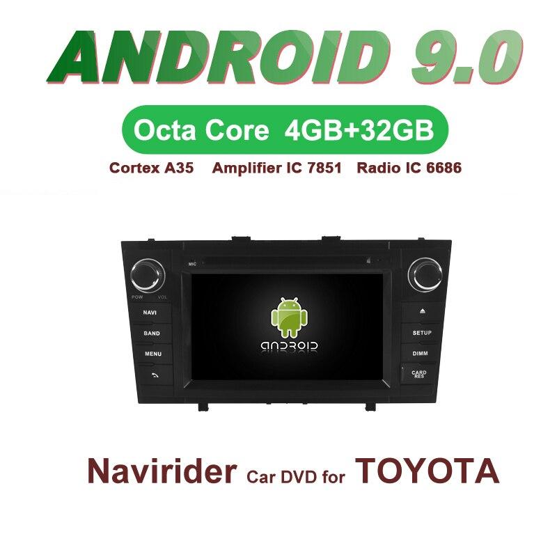 OTOJETA Car GPS 7inch Android 9.0 Radio FOR TOYOTA AVENSIS 08-13 dark bluetooth Navigation Capacitive screen support mirror linkOTOJETA Car GPS 7inch Android 9.0 Radio FOR TOYOTA AVENSIS 08-13 dark bluetooth Navigation Capacitive screen support mirror link