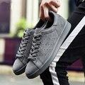 Nuevos Zapatos de Los Hombres Casual Luxury Brand Stan de Cuero Zapatos Planos de Los Hombres de Moda Zapatos Casuales Para Hombre Zapatos Hombre Mujer 2016