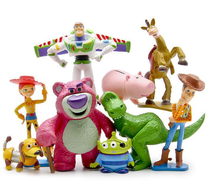 Toy Story 3 Full Collections Sheriff Woody Pride Buzz Lightyear Jessie Hamm Rex Slinky Dog Mr. Potato Head Set Doll Ornaments toy story bunny toys
