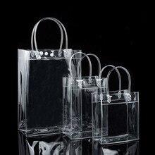 10 шт., пластиковые подарочные пакеты из ПВХ с ручкой
