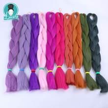 10 шт/упаковка неоновые синтетические косы 24 дюйма 94 цвета