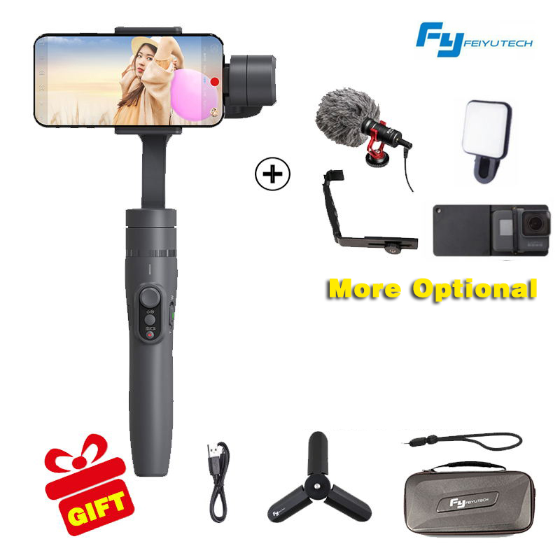 FeiyuTech FEIYU FY VIMBLE 2 Smartphone 3 axis Handheld Gimbal for Phone iPhone X 8 7 XIAOMI Samsung GoPro HERO 6 5 4 3 3+k feiyutech feiyu spg gimbal 3 axis splash proof handheld gimbal stabilizer for iphone x 8 7 6 plus smartphone gopro action camera